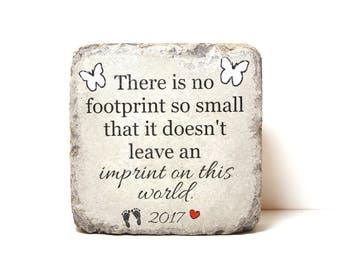 Baby Loss Memorial Stone. PERSONALIZED Gift. 6x6 Tumbled (Concrete) Paver. Infant or Baby Remembrance Stone. Infant/ Miscarriage Loss Gift
