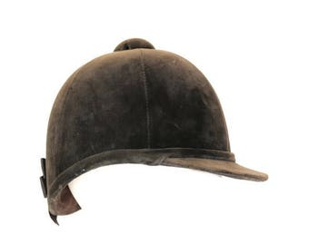 The Beagler Hat, English Foot Beagling Hat, British Foot Beagling Cap, Brown Velvet English Foot Beagling Hat, English Beagler Hunting Cap