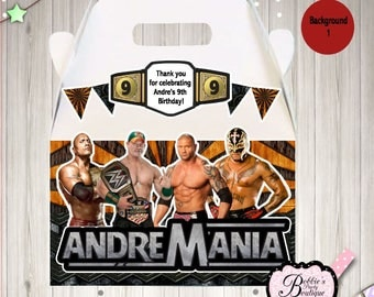 WWE Party Boxes, 10 WWE Party favors,