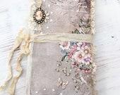 Tattered Garden - Travelers Notebook, Romantic, Vintage Junk Journal Style
