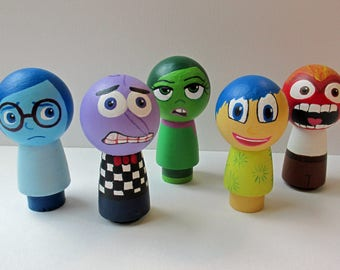 Inside Out Inspired Peg People