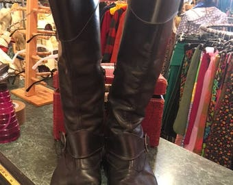 John Fluevog Black High Knee Boots