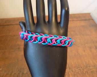 Cotton Candy Half Persian 4 in 1 Chainmaille Bracelet