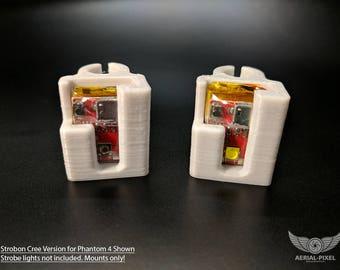 STROBON Cree® LED Strobe Light Mounts for Phantom 4, Phantom 4 Pro and Phantom 3 Standard