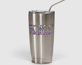 Kappa Kappa Gamma decal, KKG tumbler sticker, KKG Sorority cup decal, Multiple sizes available, Indoor / Outdoor 3 year rated vinyl (1261)