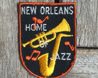 New Orleans Home of Jazz Vintage Travel Patch by Voyager