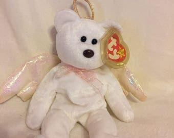 Halo bear retired Beanie Baby 1998