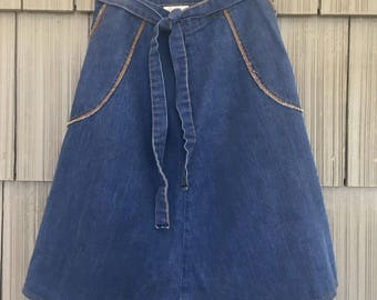 70's Denim Wrap Skirt