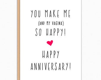 Anniversary Card Funny. Anniversary Card For Boyfriend. Anniversary Card For Husband. Naughty Anniversary. You Make Me So Happy 173