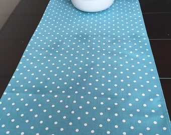 Table Runner- Premier Prints Coastal Blue Dot- Weddings, Showers, Home Decor- Pick a Size or CUSTOM