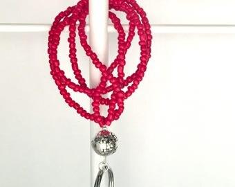 Beaded lanyard for keys, Beaded badge holder, Badge lanyard, Lanyards, Lanyard necklace, Teacher lanyard, Key lanyard