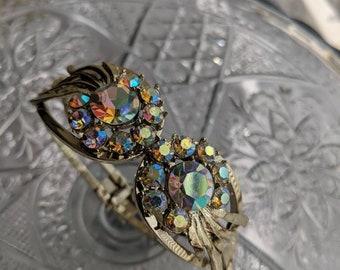 Aurora Borealis Clamper Bracelet