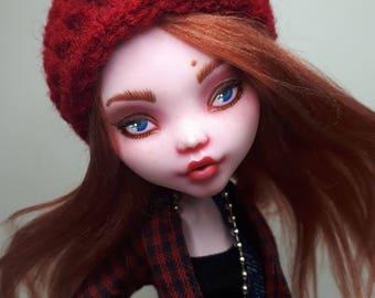 OOAK Monster High Repaint - Red Head Draculaura Doll