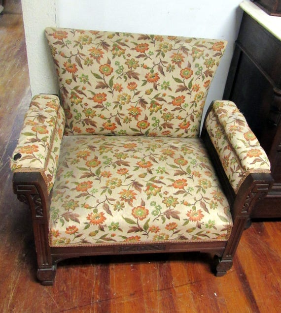 Victorian Nursing Chair with upholstered seat