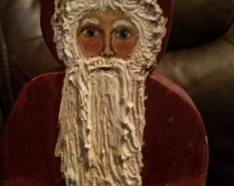Hand Painted Wooden Santa