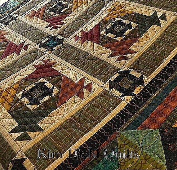 Kim Diehl Simple Whatnots Crackerjack Little Quilt Kit, Helping Hands Fabrics From Henry Glass For Top and Binding Featuring Yarn Dye Plaids