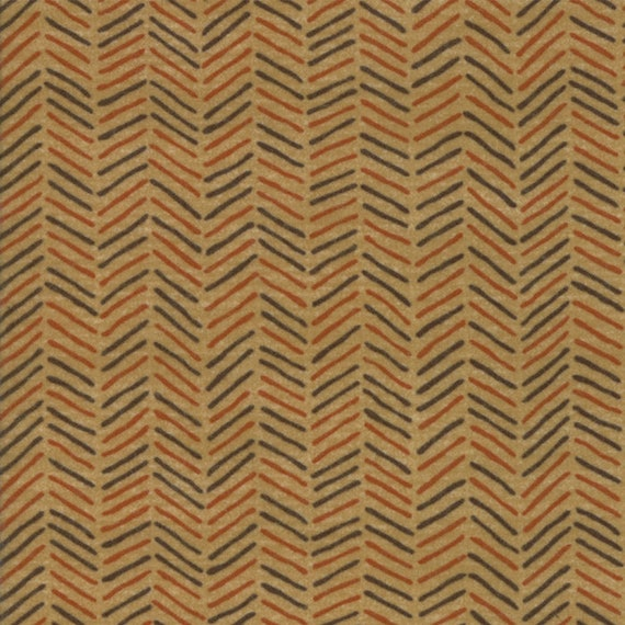 Tan Flannel With Diagonal Crossed Hash Lines From Holly Taylor Fall Impressions Moda Fabric By The Yard 6705 12F