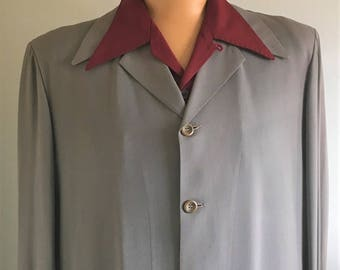 ORIGINAL 1940's/ 1950's GABARDINE HOLLYWOOD Buckskein Joe Jacket