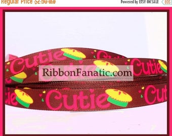 "ON SALE 5 yds 5/8"" Cutie Pie Grosgrain Ribbon"