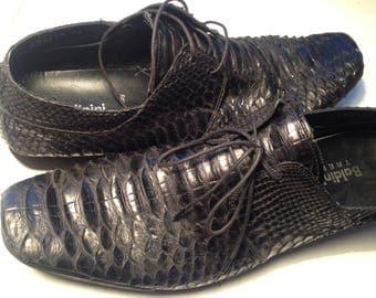 BALDININI Vintage Python Leather Shoes Women Size 39