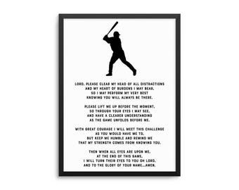 Baseball Prayer Etsy