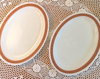 Pyrex Bronze Tableware Platters - Set of 2