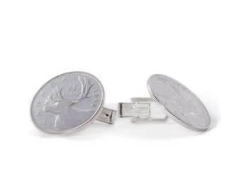 Canadian Quarter Cufflinks
