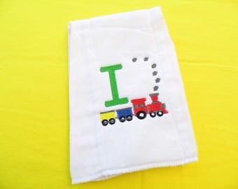 Train Baby Burping Cloth