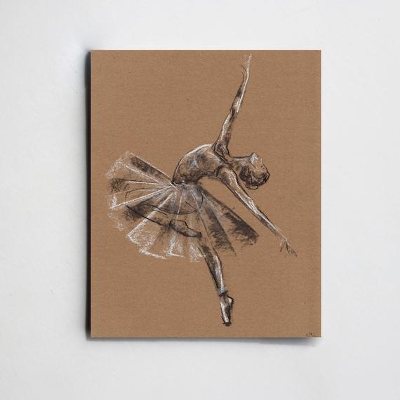 Bosquejo del carbn de lea de la bailarina Dibujo de una