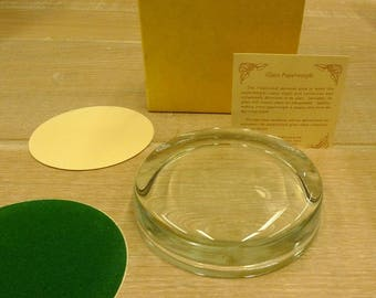 1 x Framecraft Cross Stitch Glass Coaster Paperweight round or oval