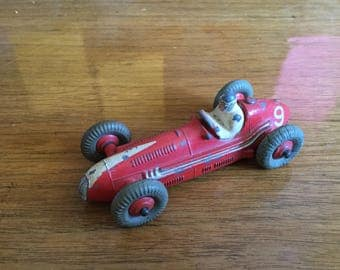 Early Dinky Toy Diecast Maserati Race Car, Racer, Boat Tail