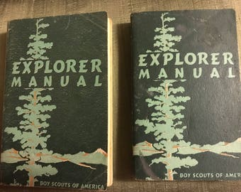 1954 Boy Scouts of America Explorer Manuals (2)