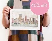 40% OFF! Perth - Reproduction of an Original Artwork - A4