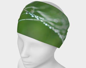 Grass Yoga headband, Workout Headband, No Slip Headband, Green Hair Band, Nature Headband, Running Headband, Active Wear, Spandex Head Wear
