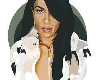 Aaliyah - Art Print - Music Print - RnB