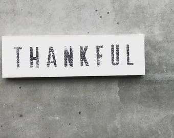 Thankful Wood Plank