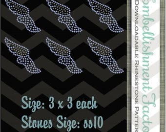 ON SALE NOW Instant Downloadable Rhinestone pattern- Mutli pack of track designs- Diy 13-18