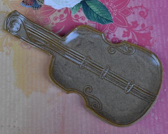 Violin spoon rest. Ceramic Violin Viola plate. Viola soap holder. Cello decorative plate. Violin ring holder. Gift for a musician.