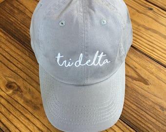 Tri Delta Script Cap