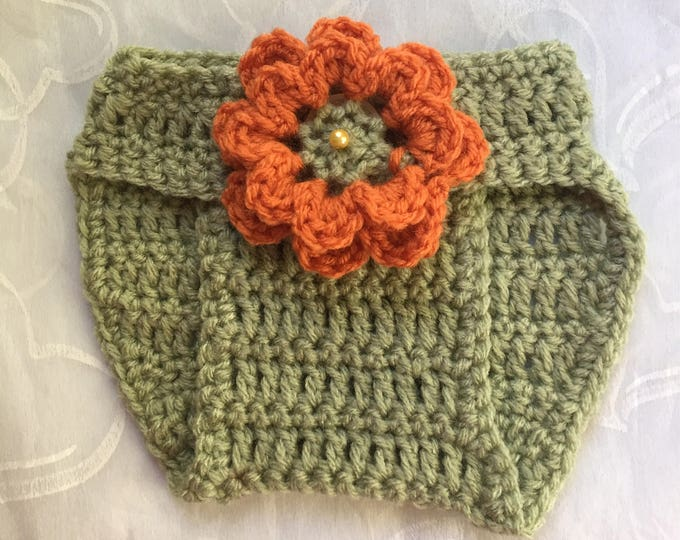 Diaper Cover-Fall Baby Accessories -Crocheted Photo Prop.