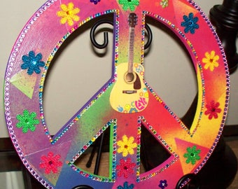Chipboard Bling Peace Sign