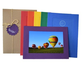 Photo Insert Note Cards, 24 card Rainbow Collection - Made in the USA from recycled paper