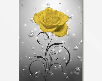 Bathroom Pictures, Yellow Rose, Bubbles, Yellow Grey Decor, Bath, Powder  Room Part 67