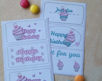 Birthday stickers labels