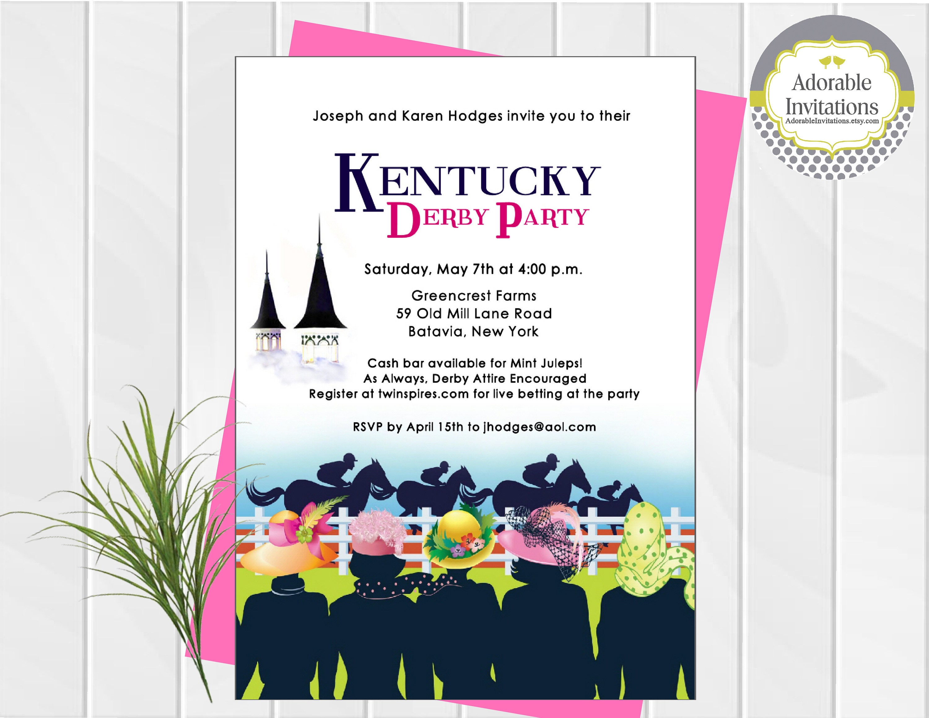 Derby Party Invitations spanish wedding invitations example cause
