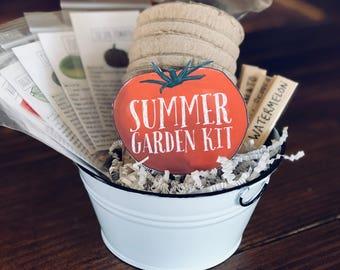 Beginner Summer Garden Kit, Gardening for Children Container Garden, Valentine Gift, Winter Activity Plant Grow Kit