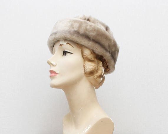 Vintage 1960s Platinum Fur Hat - Original Tags
