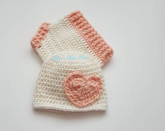 Preemie Crochet Baby Hat and Diaper Set/Photo Prop/Ready to Ship