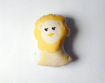 Organic Plush Lion Rattle Pillow