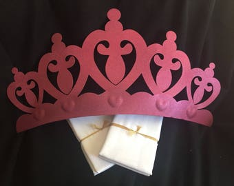 Pink Crown Canopy With Your Choice of Sheers Color - Without Rhinstones